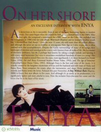 Enya: Cover photo/article from Inside Borders